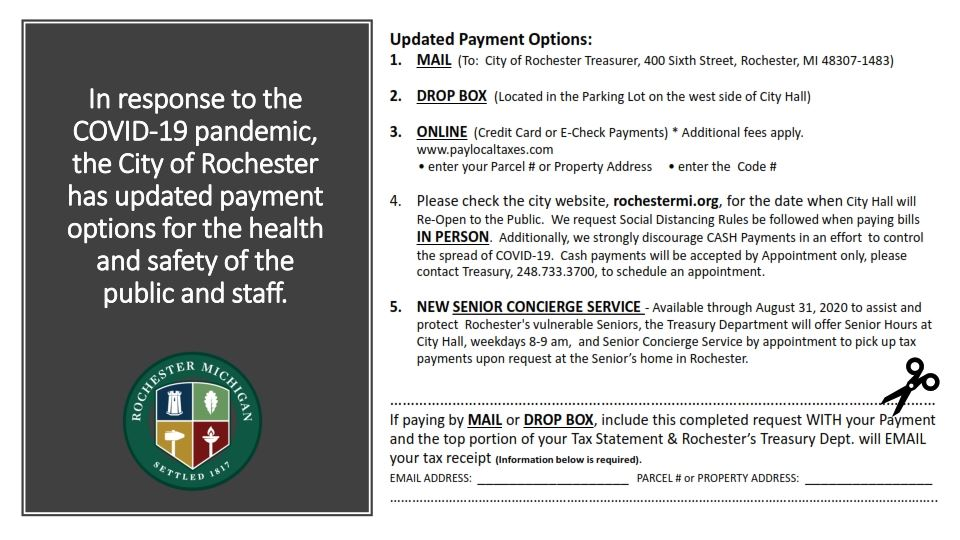 Payment Options due to COVID19